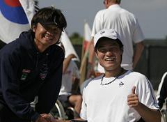 丸山コーチと国枝選手